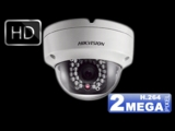 True Day/night vandal proof dome SDI κάμερα, 2MP DS2CC51D3SV-PIR